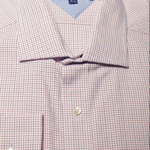 Men dress shirt Hilfiger 16.5 34/35 red blue Nwt
